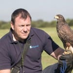 John Lacey with Hawk in Hand