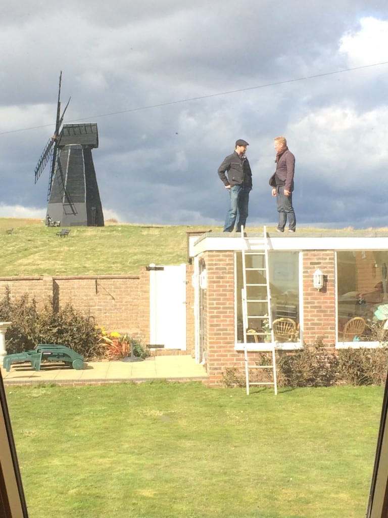 Lee Evans and Tom Bonny on Beacon Hill Rottingdean Sussex