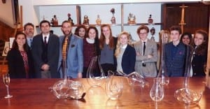 Michael Cooper Director of Art Brighton College with 6th form students