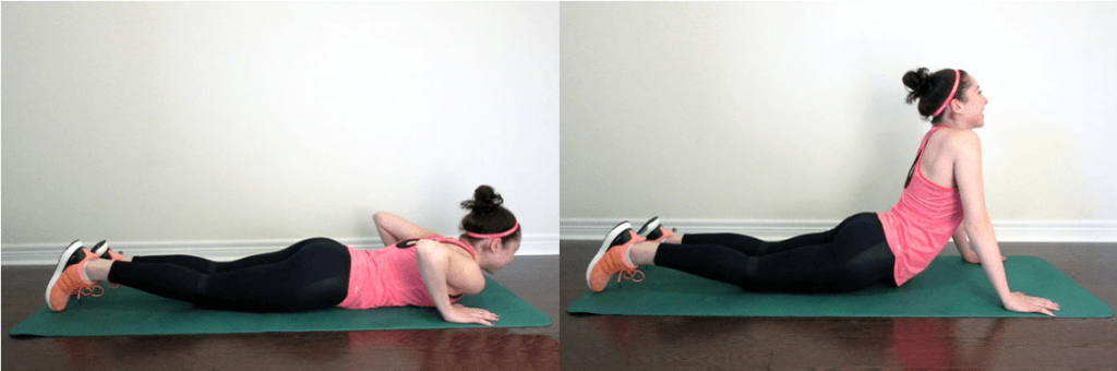 Press-Up Back Extension Stretch
